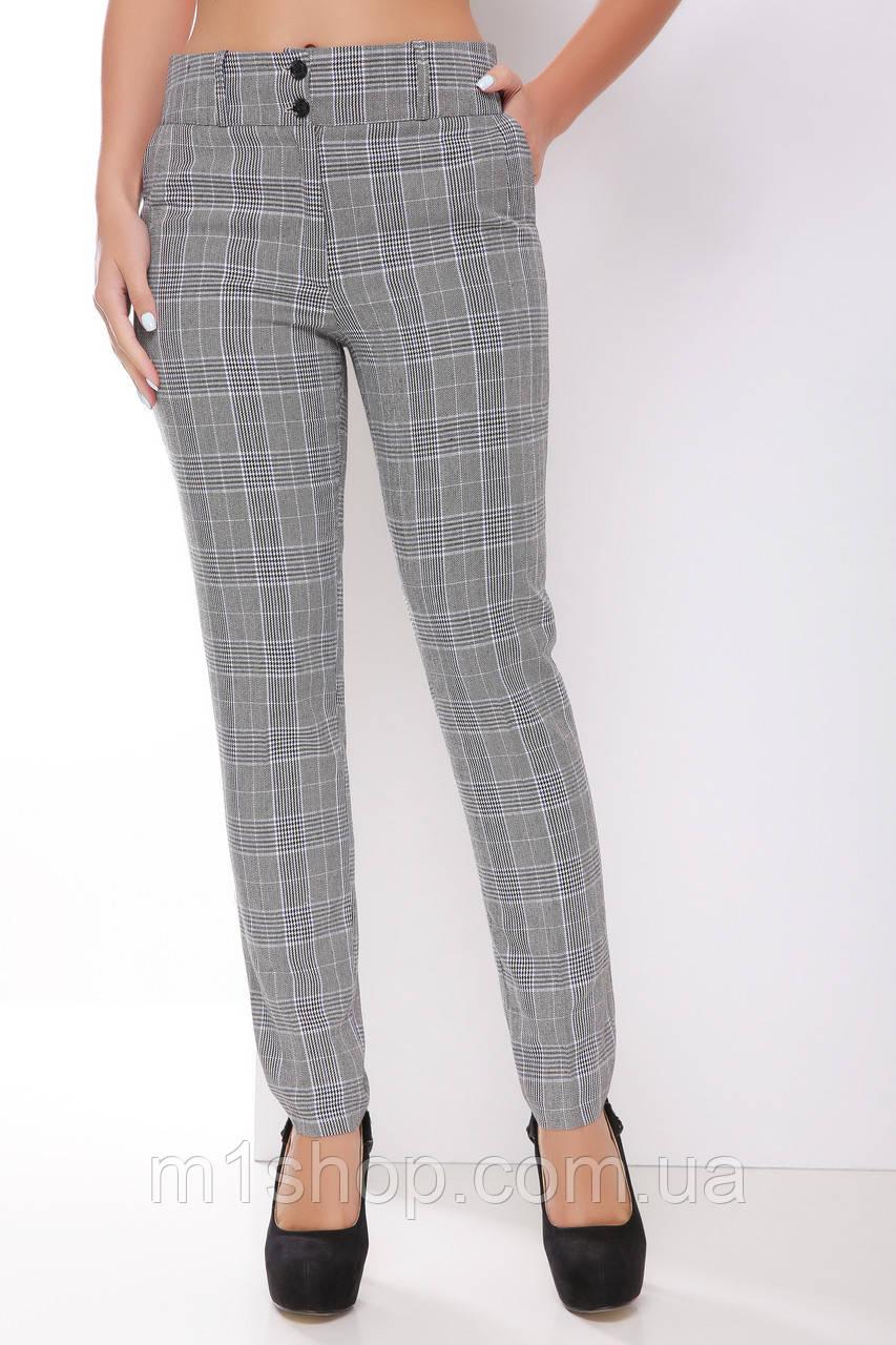 Женские деловые клетчатые брюки (1789 mrs)