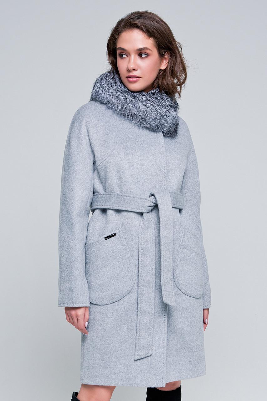 4603b1f84dd Купить Зимнее пальто «марта» светло-серое оптом и в розницу в ...
