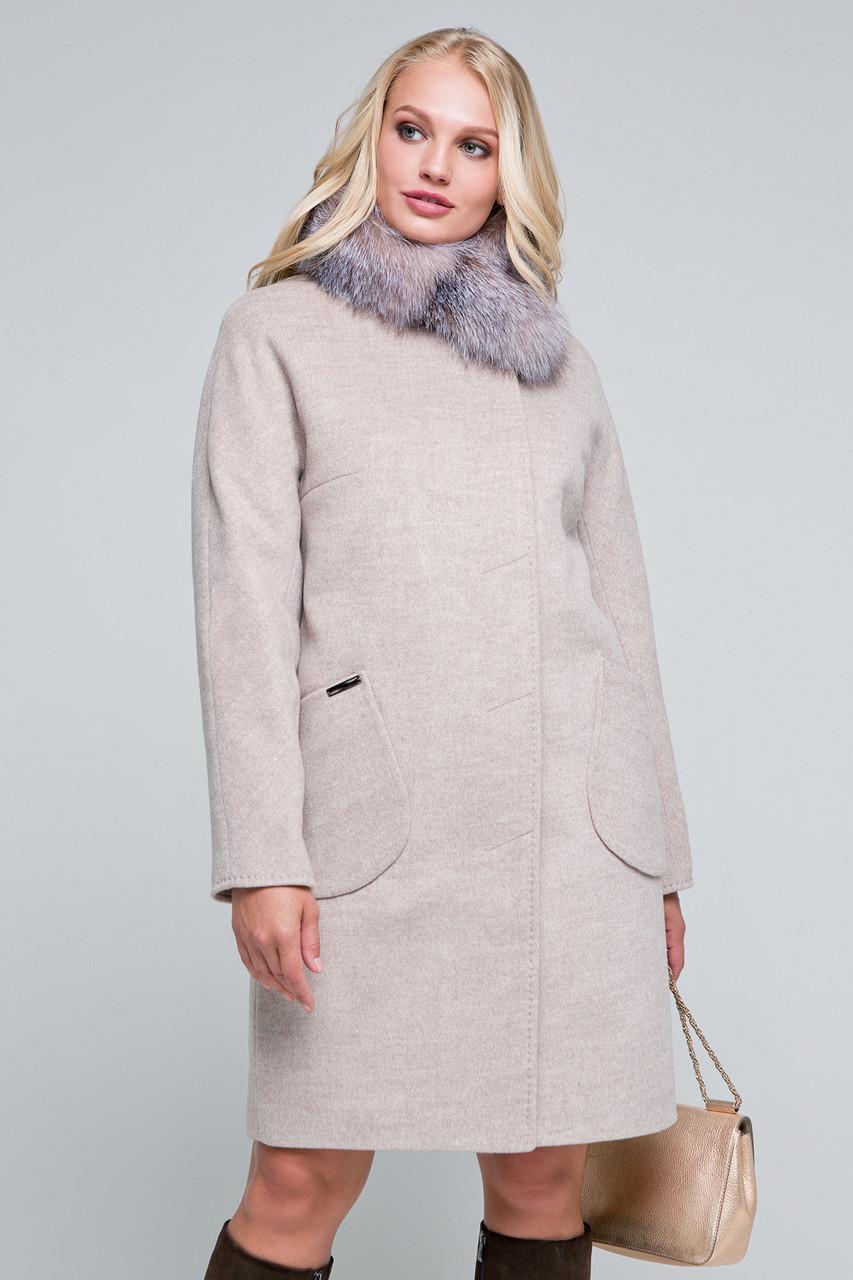 Купить Зимнее пальто «марта» бежевое оптом и в розницу в Харькове от ... 6e91383b48291