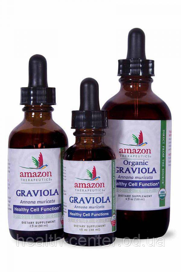 Гравиола (Гуанабана экстракт) 120 мл для противоопухолевого иммунитета, онкопротектор Amazon Therapeutics USA