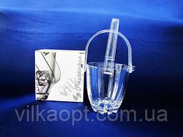 Відро для льоду скляне Sylvana Pasabahce + щипці d 12 cm, h 13 cm. (53628)