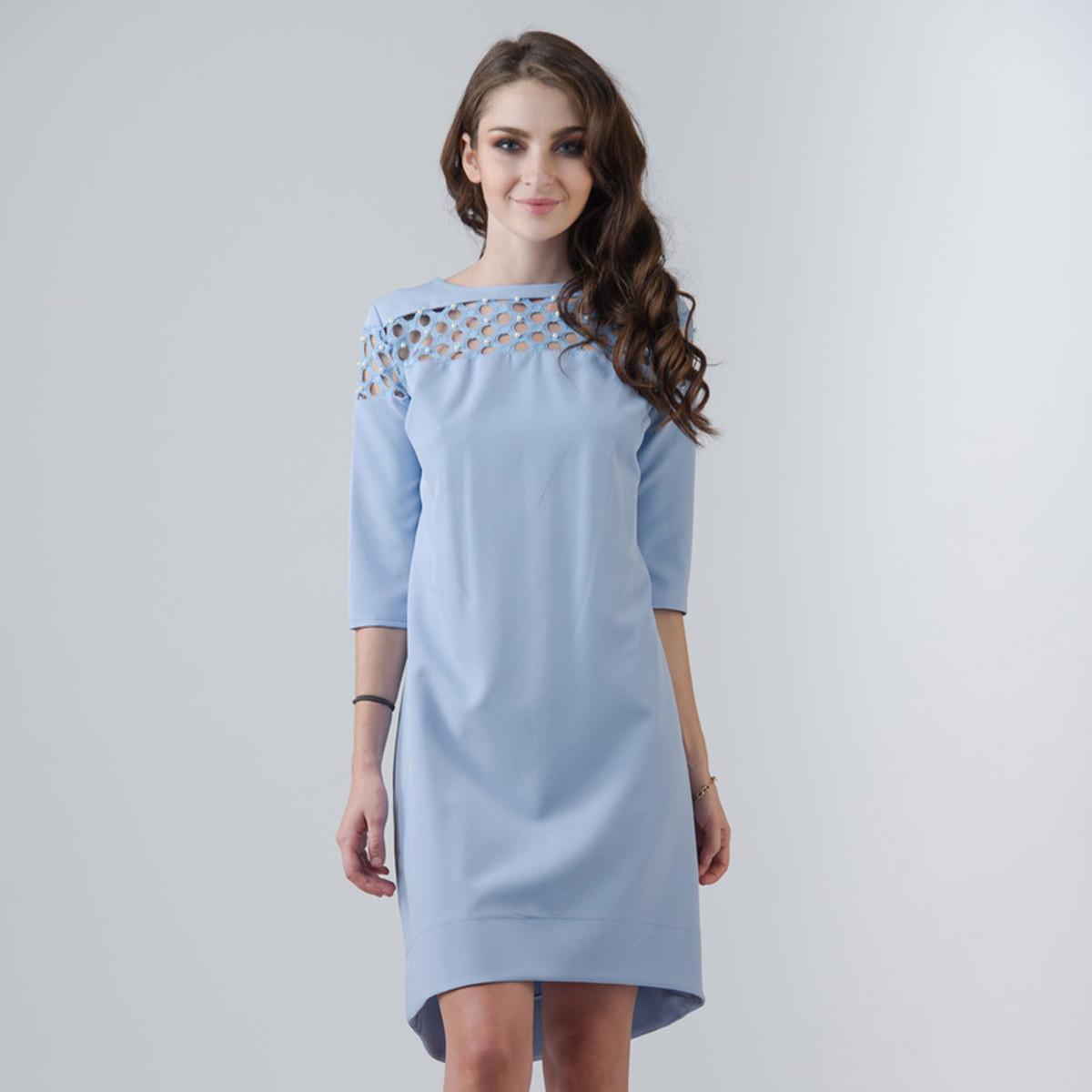 """Голубое короткое платье """"Лада"""""""