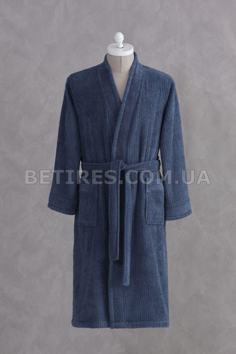 Халат махровый PAVIA ESTEBAN INDIGO (XL) синий