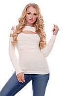 Стильная женская  кофточка с вырезом на плече  р. 44-50