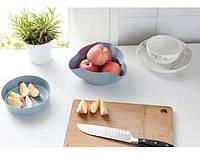 Двойная миска для семечек,орехов голубая 122142