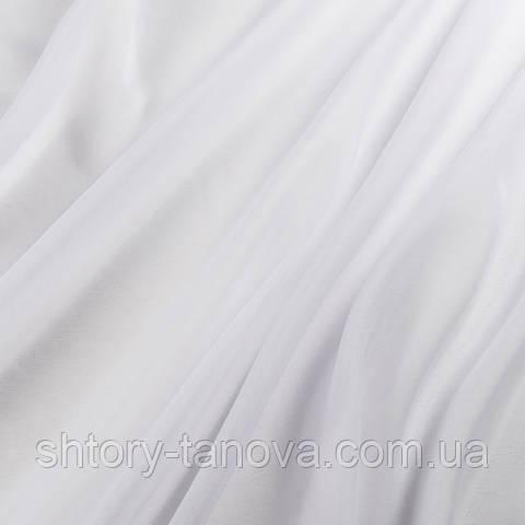 Тюль батист с утяжелителем, однотонный нежно-лиловый
