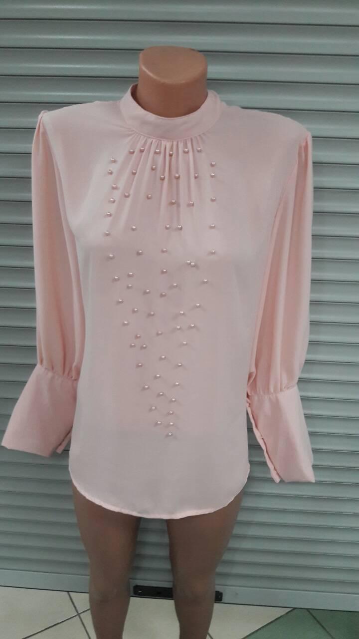 Блузка женская с бусинками