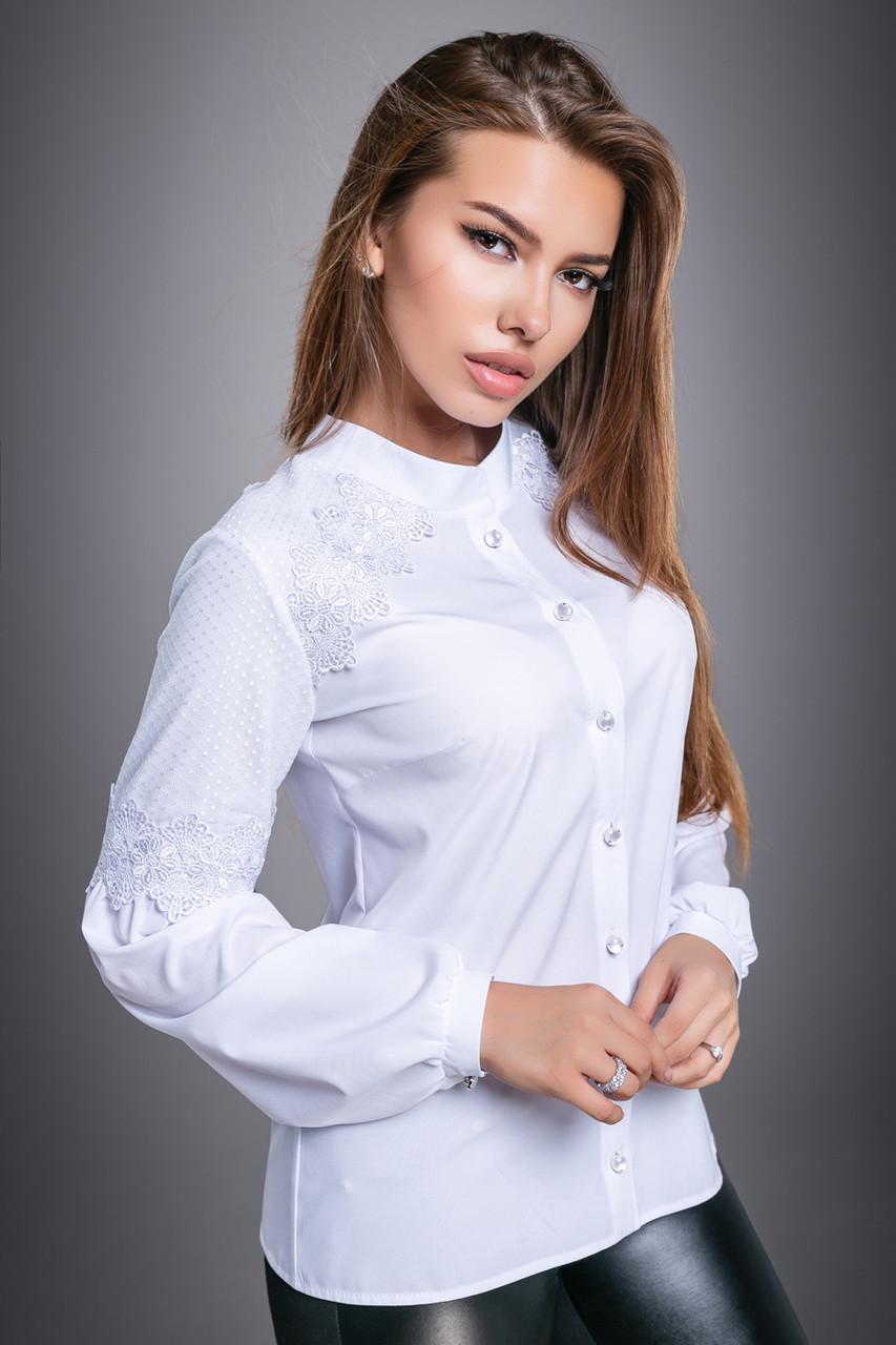 Красивая женская Блуза  2704 белый