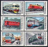 Румыния 1987 - локомотивы - MNH XF