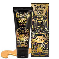 Золотая маска-пленк с пептидами ELIZAVECCA Milky Piggy Hell-Pore Longolongo Gronique Gold Mask Pack, 100ml