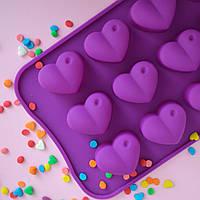 """Форма для конфет и льда """"Сердца №2"""""""
