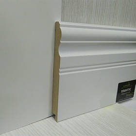Плинтус белый МДФ для пола широкий 16*145*2800 мм