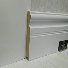 Плінтус білий МДФ для підлоги широкий 16*145*2800 мм