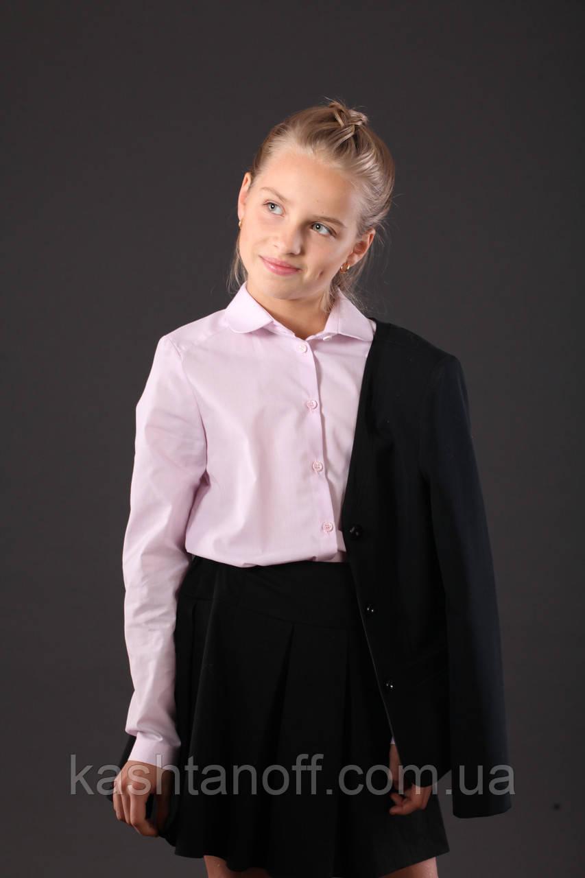 Блуза школьная розового цвета
