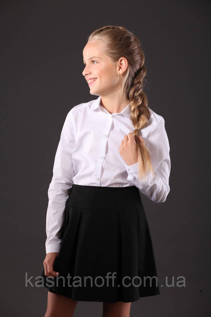 Блуза школьная белого цвета