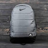 Стильный ранец, рюкзак, портфель NIKE AIR (НАЙК) Сумка! Повседневный ранец! (Серый)
