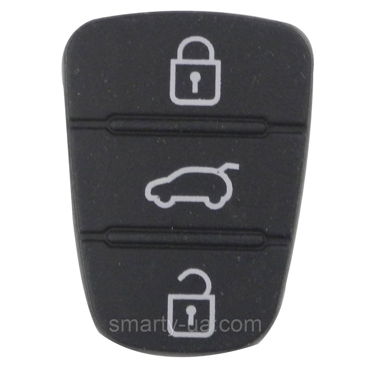 Силиконовые кнопки на ключ hyundai I10 I20 I30 IX35 для Kia K2 k5 Рио Sportage