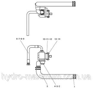 Шестеренчатый рабочий насос в сборе F2-2911000401 | Гидравлическая система фронтального колесного погрузчика SDLG LG936L