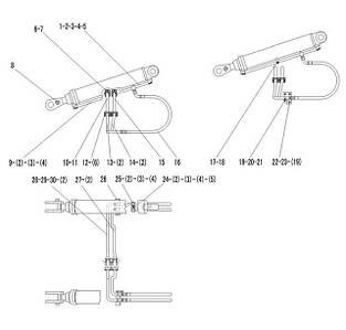 Гидроцилиндр подъема в сборе F3-2913000829 | Гидравлическая система фронтального колесного погрузчика SDLG LG936L