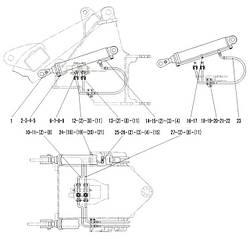 Гідроциліндр підйому в зборі F3-2913000401   Гідравлічна система фронтального колісного навантажувача SDLG LG936L