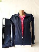 Спортивный костюм для стильных девушек производства Турции,  тёмно-синий.