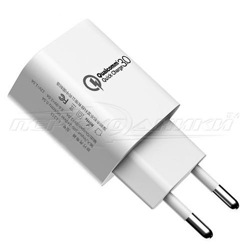 Сетевое зарядное устройство USB Quick Charge 3.0 (5V, 9V, 12V) (ченый)