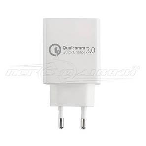 Сетевое зарядное устройство USB Quick Charge 3.0 (5V, 9V, 12V) (ченый), фото 2