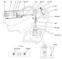 Гидроцилиндр поворота ковша в сборе F4-2914001105 | Гидравлическая система фронтального колесного погрузчика SDLG LG936L