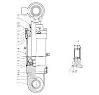 Гидроцилиндр поворота ковша F6-4120001083 | Гидравлическая система фронтального колесного погрузчика SDLG LG936L