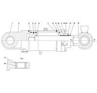 Гидроцилиндр поворота ковша F6-4120000868 | Гидравлическая система фронтального колесного погрузчика SDLG LG936L