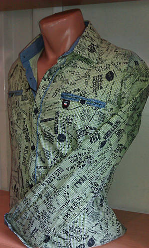 Стильная Мужская рубашка с длинным рукавом приталенная стрейч BAGARDA Одесса