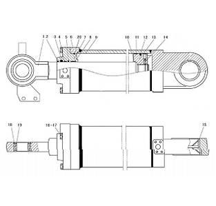 Гидроцилиндр поворота ковша F7-4120001083   Гидравлическая система фронтального колесного погрузчика SDLG LG936L