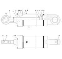 Гидроцилиндр поворота ковша F7-4120000868 | Гидравлическая система фронтального колесного погрузчика SDLG LG936L