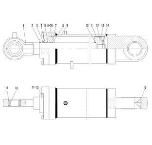 Гидроцилиндр поворота ковша F7-4120000868   Гидравлическая система фронтального колесного погрузчика SDLG LG936L
