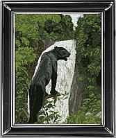 Набор для вышивания нитками Черная пантера 1 КИТ 10513