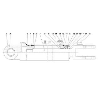 Гидроцилиндр стрелы F8-4120000867   Гидравлическая система фронтального колесного погрузчика SDLG LG936L