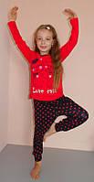 Детский комплект для дома и сна пижама 3-4 , 5-6 , 7-8 лет Турция
