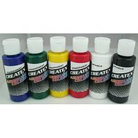 Краски для аэрографии Createx Colors / Createx Primary Set.
