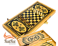Нарды шахматы шашки 3 в 1 бамбуковые 50 см