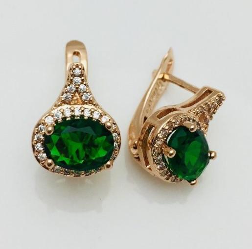 Сережки Fallon Марсо зелені