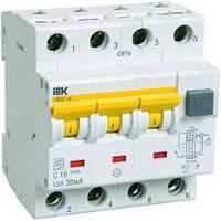 Автоматический выключатель дифференциального тока АВДТ34 C16 300мА ИЭК