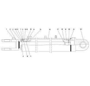Гидроцилиндр стрелы F9-4120000867   Гидравлическая система фронтального колесного погрузчика SDLG LG936L