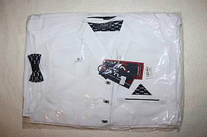 Школьная рубашка на мальчика с бабочкой 116,128,140,152 см