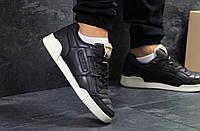 Мужские кроссовки Reebok Homme Classic натуральная кожа+резина под джинсы, рибок 44 размер (черно-синие), ТОП-, фото 1
