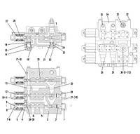 Блок клапанов F11-4120001054   Гидравлическая система фронтального колесного погрузчика SDLG LG936L