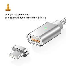 Elough E04 магнитный кабель USB Type-C. Серебристый. Лучшее качество!, фото 3