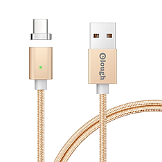 Elough E04 магнитный кабель USB Type-C. Золотистый. Лучшее качество!