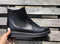 Ботинки челси из натуральной черной кожи №362 (1012-т)