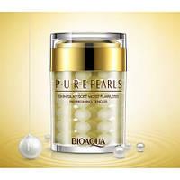 Увлажняющий антивозрастной крем для лицас натуральной жемчужной пудройBioAqua Pure Pearls 60 ml, фото 1