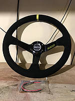 Руль гоночный для авто Sparco желтый